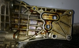 wyciek oleju uszczelka alternatora bmw n62